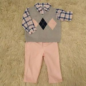 The Children's Place | Argyle Vest Shirt and Pants